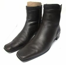 Sesto Meucci women's size 8 N Narrow leather ankle boots side zip