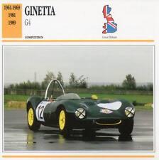 1961-1989 GINETTA G4 Racing Classic Car Photo/Info Maxi Card