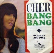 """CHER ( SONNY BONO ) BANG BANG 7"""" BEAT  1966 -  NEEDLES AND PINS"""