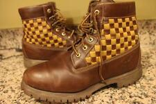 28093 Mens Timberland Panel Boot Brown Woven Premium Leather 11.5 (BOTA1400