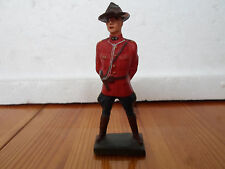 Elastolin Lineol Mounties soldier standing officer Wwii