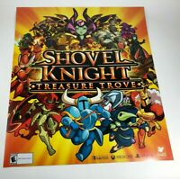 "Shovel Knight Treasure Trove Promo Promotional Display Wall Poster 22"" x 26"""