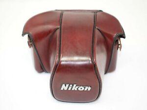 Nikon CF-20 Burgundy Leather Ever Ready Case for Nikon F3 Cameras