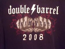 Clearwater FL Skimfest 08 Double Barrel Surf Shop black graphic XL t shirt