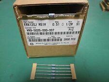 5 Pack Panasonic Metal Oxide Film .51 OHM 1/2 Watt 5% Resistors NOS ERX12SJR51V