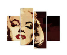 "EXTRA LARGE CANVAS PRINTS MARILYN MONROE POP ART 4 PANEL 35""(90cm) XXL PICTURES"