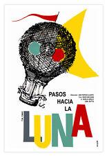 """Cuban movie Poster 4 film""""Way to Moon""""Air BALLOON art.Pasos hacia la Luna"""