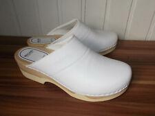Chaussure de cuisine sabots BRAGARD cuir blanc 45 Semelle crantée Talon de 5 cm