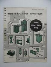 c.1959 Wales Strippit System Metalworking Tooling Machine Tool Catalog Vintage