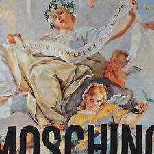 Moschino Scarf Angel Print  Large 86cm x 86cm 100% Silk Square New ITALY