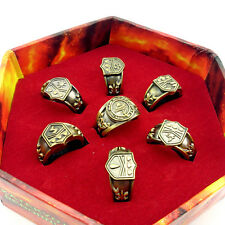 7pcs Hitman Reborn Vongola cosplay rings set + Box