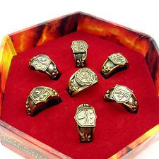 7pcs Hitman Reborn Vongola cosplay rings set + Box