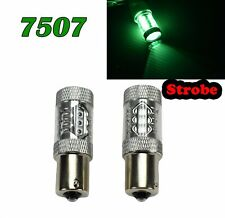 Strobe 7507 BAU15S PY21W 80W LED Bulb 150° Green Front Signal Light Lamp M1 MAR
