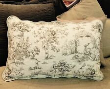 """French Country Toile Pillow Sham Case Slip Beige And Cream 46x70cm 18x27"""""""