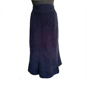 House of Brauer Skirt Size 18 Blue Corduroy Maxi Deep Pockets Casual
