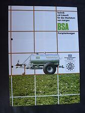 0070) BSA Pumptankwagen PTW 3,0-12T - Prospekt Brochure 90er-Jahre
