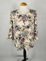 Ladies Top Size 16 CAPSULE Ivory Pink Blouse Smart Day Office Work Party