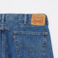 LEVI STRAUSS 505 Reg Fit Straight Leg Jeans Dark Wash Denim Mens 40x30