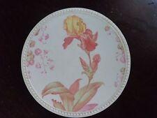 vintage Cauldon Place decorative plate Iris design 1904-1920