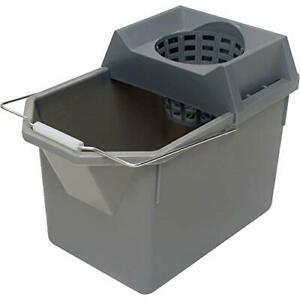 Rubbermaid Commercial Products 15-Quart Lightweght Pail/Mop Bucket with Mop S...