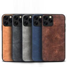 For iPhone 11 Pro Max XR XS X 8 Plus Retro Leather Soft TPU Bumper Cover Case
