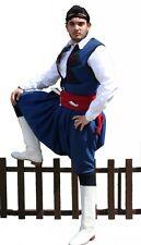 Greek Traditional Costume Cretan Blue S-XL Men Man Kritikos MARK678
