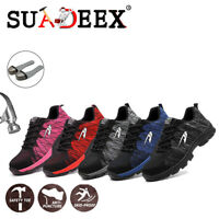 Womens Safety Working Shoes Industrial Breathable Protective Trekking Hike Boots