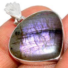 Purple Labradorite 925 Sterling Silver Pendant Jewelry BP36234
