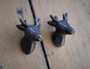 Antique Bronze Metal Stag Head Cupboard Door Handle | Deer Head Drawer Knob 14