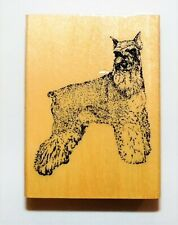 Schnauzer Stamp Gallery Wood Rubber Mounted NEW