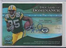GREG JENNINGS 2009 UD ICONS DECADE OF DOMINANCE PACKERS AUTO #D 4/10