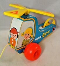 Fisher Price Mini Copter Pull Toy Helicopter #448 Vintage 1970
