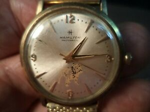 Vintage 10K gold filled Hamilton Masterpiece Man's Wrist Watch