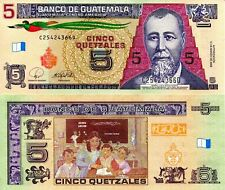 GUATEMALA 5 Quetzale Banknote World Currency Money BILL p116 South America Note