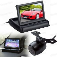 """12V 4.3"""" TFT LCD Screen Folded Monitor DVD + Car Rearview Camera CCD for All Car"""