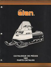 1983 SKI-DOO ELAN SNOWMOBILE PARTS MANUAL 480 1166 00 (578)