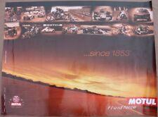 AFFICHE 1853-2003 HUILE MOTUL auto moto velo sepia original oil poster Le MANS