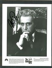 Al Pacino signed boldly on Glossy B&W 1979 Godfather III vintage movie still