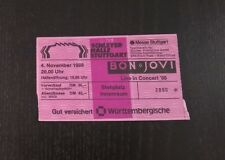 ###  BON JOVI - STUTTGART - SAMMLER TICKET -1988  ###