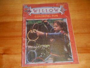 """Random House 1988 Vintage """"Willow"""" Coloring Fun Book Lucas Films - Unused"""
