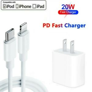 20W USB-C Fast Wall Charger PD Power Adapter For iPhone 13/12/11 Pro Max XR XS X