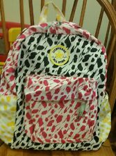 NWT CONVERSE ALL-STAR PRINTED BACKPACK Book Bag Pink/Yellow/Black 9A5181-661