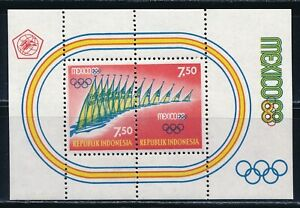 Indonesia - Mexico Olympic Games MNH Sheet (1968)