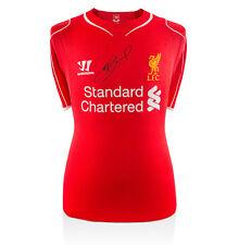 Steven Gerrard Front Signed Shirt - Liverpool Home 2014/2015 Autograph