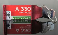 Air Berlin A330 Schlüsselanhänger by FlapsFive  original Safety Card | Belt
