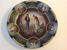Gorgeous Z S & Co. Royal Vienna Porcelain Gold Gilded Plate The Gleaners