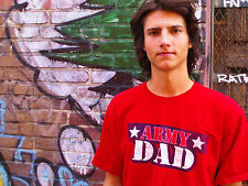 ARMY DAD Red 100% Cotton Size L T-Shirt