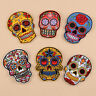 DIY Skull Flower Embroidery Sew On Iron On Patch Badge Bag Fabric Applique Craft