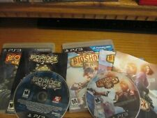PS3 Bioshock 1 2 & Infinite (Sony Playstation 3) Complete Free Shipping 3 Games