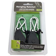 "2PCS 1/8"" Rope Ratchet YOYO Easy Hanger kit for Hydroponics Grow Aquarium Light"